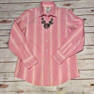 Talbots Pink and White Stripe Shirt Size 6